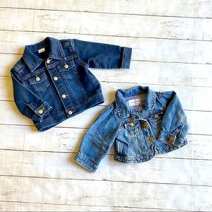 Other - Toddler jean jackets  size 6 to 12 months